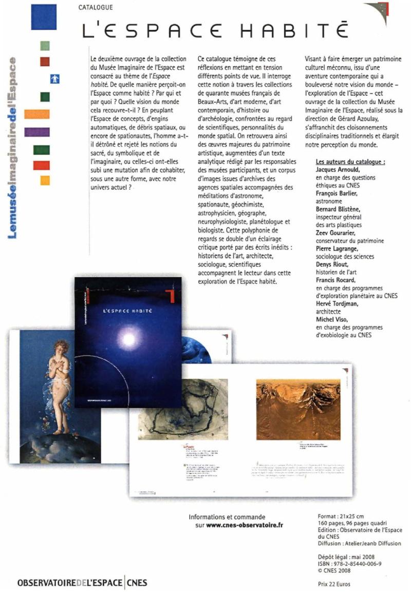"""Catalogues : """"Les représentations de l'Espace"""" Espace10"""