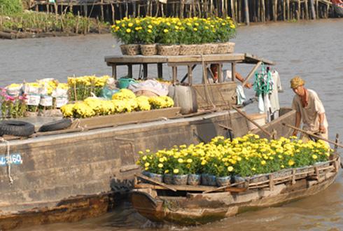 Chợ hoa nổi trên sông Cho-ho15