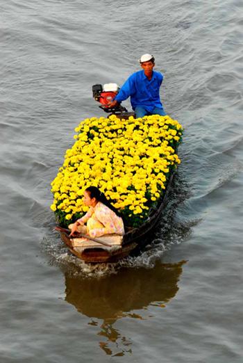 Chợ hoa nổi trên sông Cho-ho18