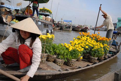 Chợ hoa nổi trên sông Cho-ho20