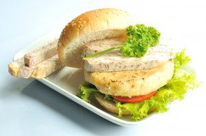 Burger rau củ Hnx_8211