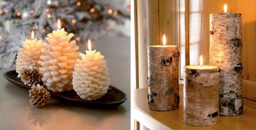Bàn ăn Giáng sinh lung linh ánh nến Nen410