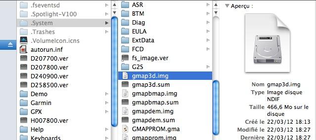 Plus de carte 3D après MAJ 2012.40 sur Mac Captu201