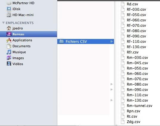 Contenu des fichiers radars et organisation des POIs. Captur79
