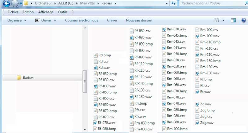 impossible de charger fichier wav des radars avec Poiloader Tomtom10