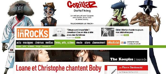 Les Inrocks : Loane et Christophe chantent Boby Docume10
