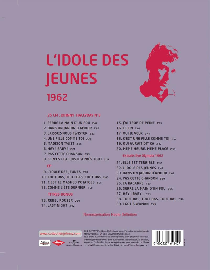 N° 31 1962 L'idole des jeunes Jhcol122