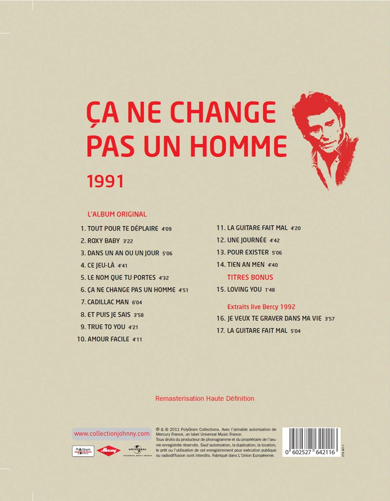 Le N° 11 1991 Ca ne change pas un homme Jhcoll13