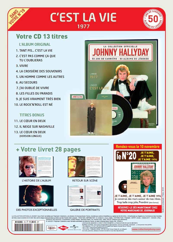 Le N° 19 1977 C'est la vie Jhcoll66