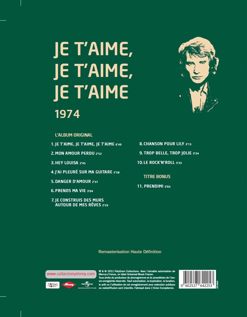 Le N° 20 1974 Je t'aime je t'aime je t'aime Jhcoll75
