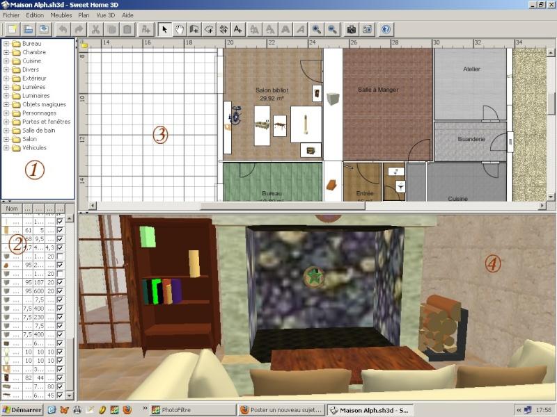 Décors 3D réalistes avec Sweet Home 3D et les autres Exempl40