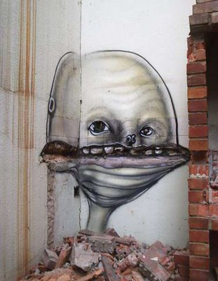 Street Art brasileira nas ruinas 0111