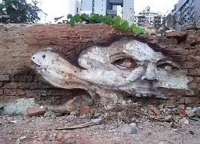 Street Art brasileira nas ruinas 0710
