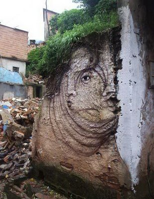 Street Art brasileira nas ruinas 1210