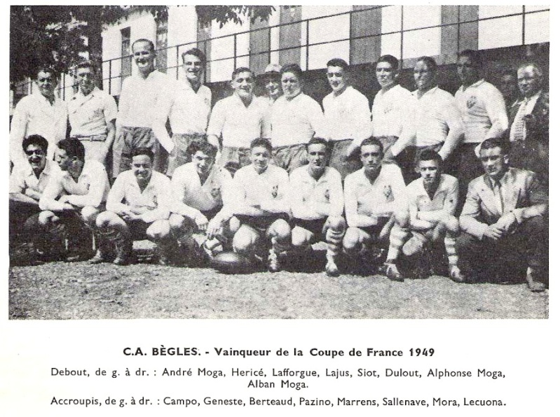 1949 - Coupe de France pour l'Union Begles10