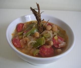 Potage au chorizo et aux legumes Potage14