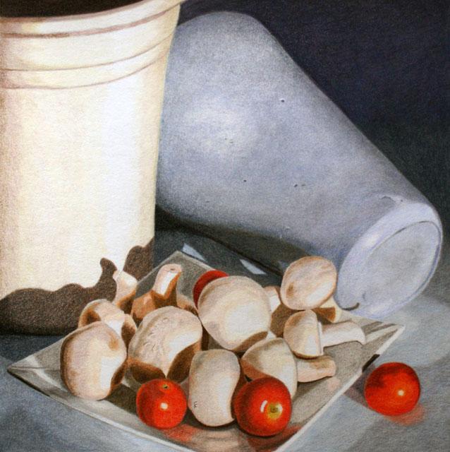 Une assiette de champignons Champi11