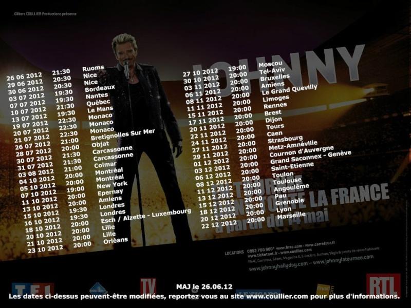 Les nouvelles dates de concerts de Johnny : 26062011