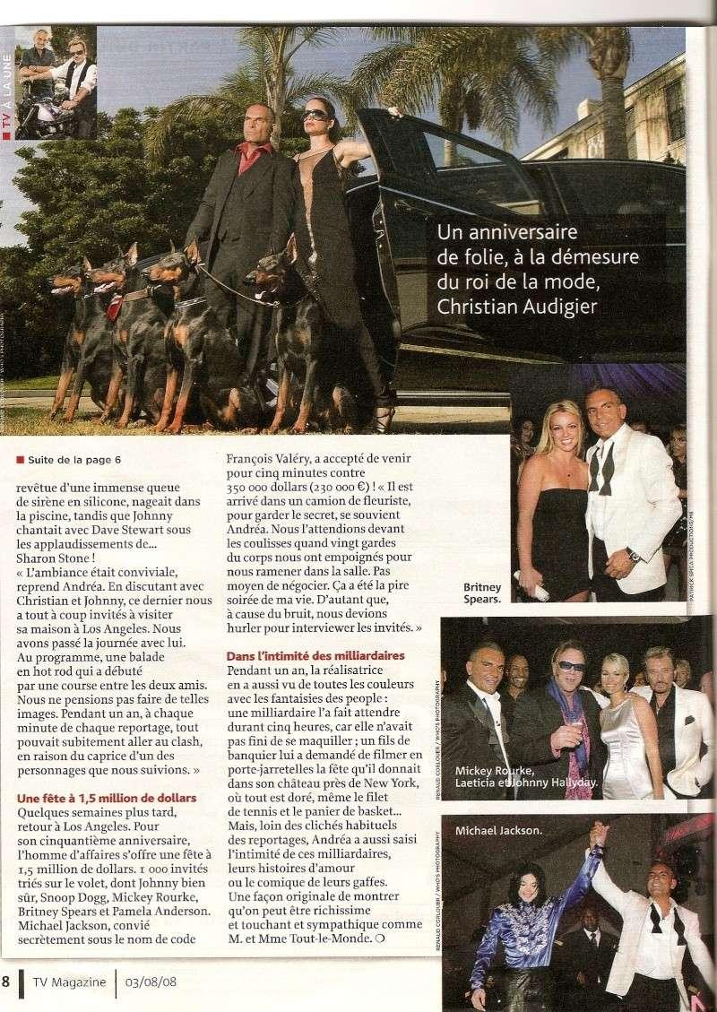 Johnny en couverture de Tv Magazine Numeri22