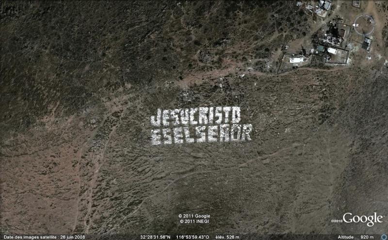 """Ecriture """"JESUCRISTO ES EL SENOR"""" à Presa Rogriguez, Baja California - Mexique Ecritu11"""