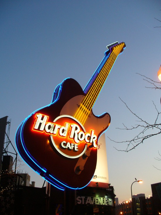 "Enseignes ""Hard Rock Cafe"" dans le monde Guitar10"
