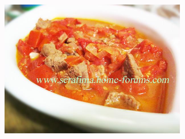 Галяе пандора ма ляхма. Помидоры с мясом. Арабская кухня. Img_1211
