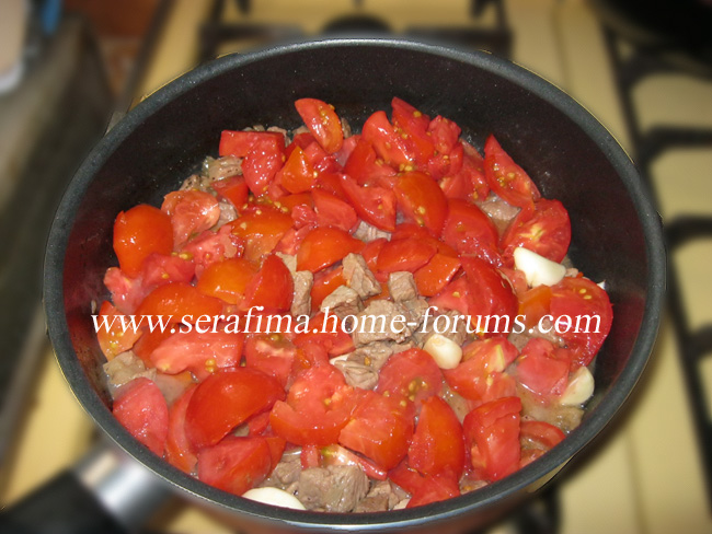 Галяе пандора ма ляхма. Помидоры с мясом. Арабская кухня. Img_1215