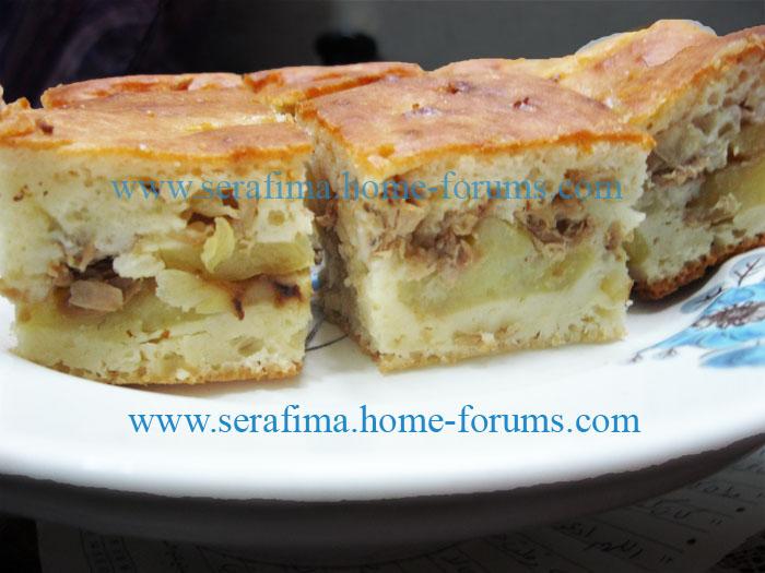Пирог с рыбными консервами. Пирог с туной, тунцом Img_1310
