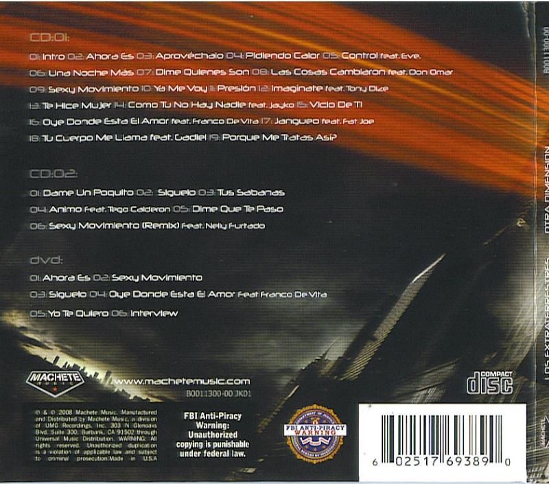Wisin & Yandel - Los Extraterrestres : Otra Dimension Back_c10