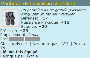 Loterie : Pantalon de l'Assassin Scintillant / Supérieur / po's Sans_t60