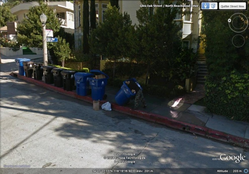 STREET VIEW : on fouille les poubelles, même à Hollywood ! Monsie10