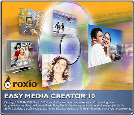 Roxio Easy Media Creator 10 Suite Multilenguaje Roxio10
