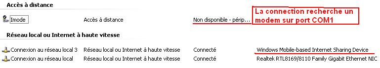 modem - Htc touch en mode modem Connec10