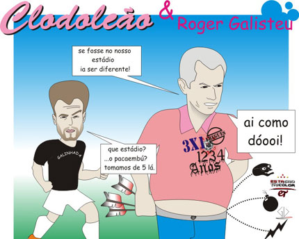 Charges do Futebol. Leaope10