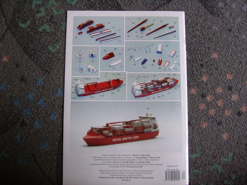Containerfrachter Mary Arctica von JSC in 1:400 Pic01518