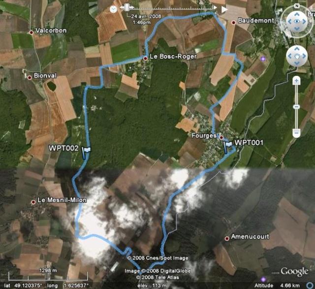 [résolu] Comment faire pour qu'un symbole se déplace sur le circuit et montre l'endroit où j'étais à l'heure indiquée dans  Google Earth ? Fourge10