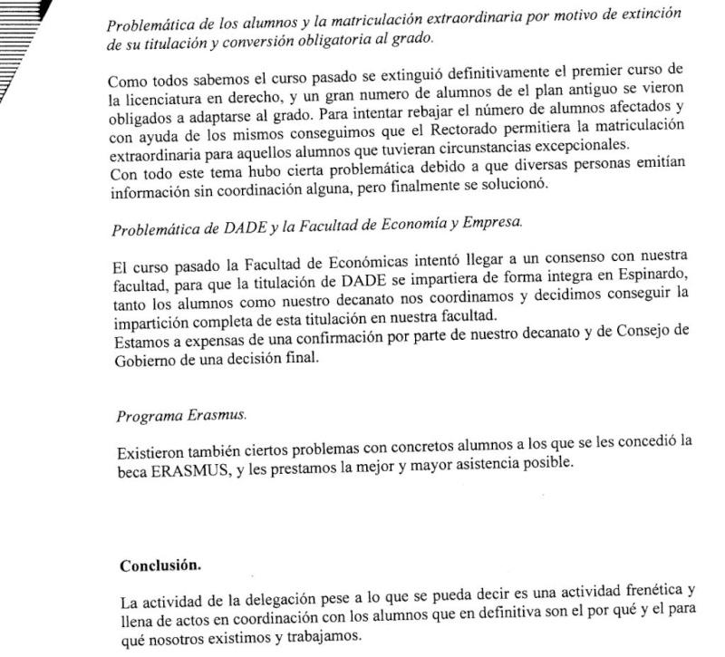 Memoria de la delegación de alumnos 2010/2011, con informe económico incluido (comentada en el Cuartel de Espartaco) Dele310