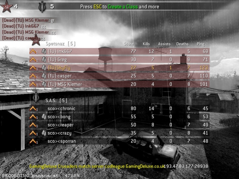 COS/TU vs SCO S&D league Match 28th April Cod4mp11