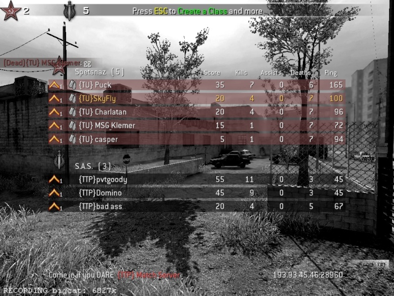 (TTP) Vs {TU} Sunday 4th May Cod4mp22