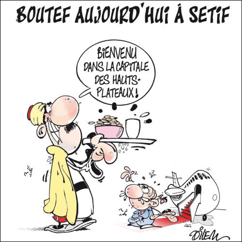 Son excellence Boutef III en caricature  Dilem12