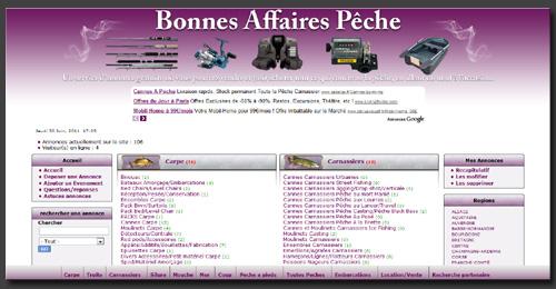 Bonnes Affaires pêche, un service D'annonce gratuite dédié A la pêche... 110