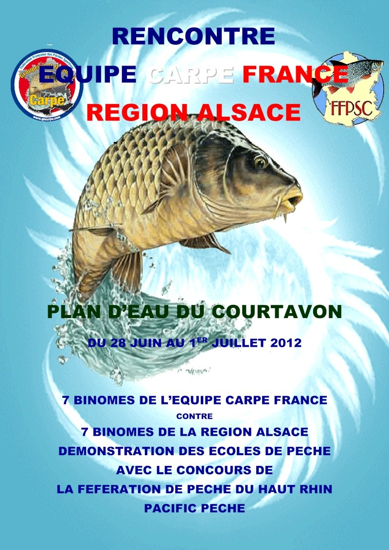 RENCONTRE EQUIPE CARPE FRANCE VERSUS REGION ALSACE Affich10