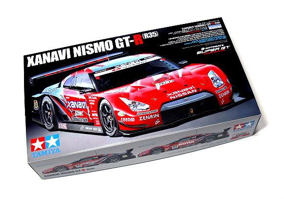 carro résine 1/24 + 1 kit tamiya NISSAN GTR R35 2008 Xanavi10