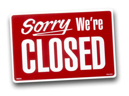 Sorry we are closed Closed10