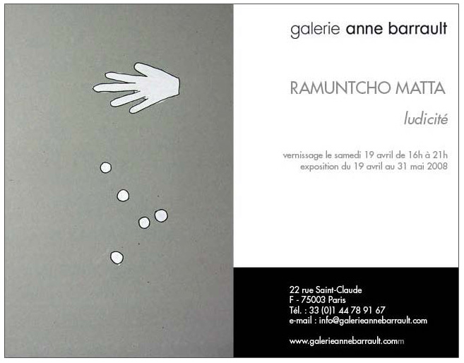 Exposition Ramuntcho Matta: derniers jours Ramunt12