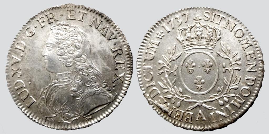 un ecu aux branches d'olivier de Louis XV 0821310