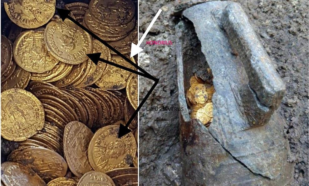 Trois cents pièces de monnaie en or datant d'environ 1.500 ans Trouva10