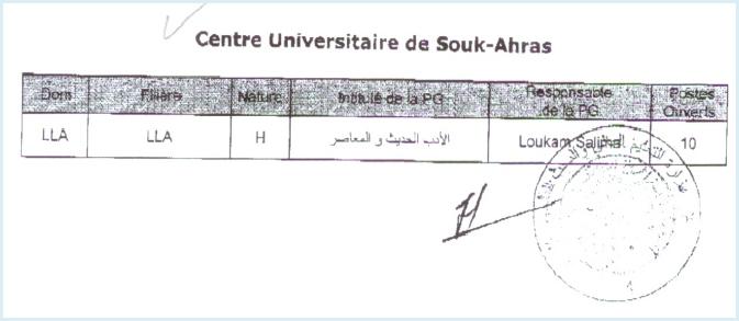 المنشور الوزاري الخاص بالماجستير المقبولة في جامعات الشرق 2011-2012 510