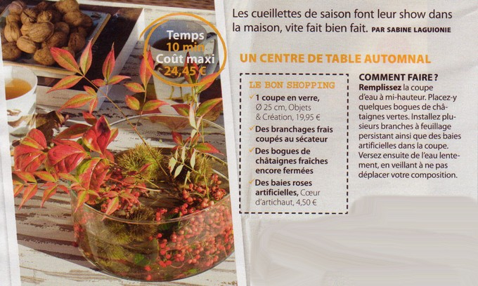 Centre de table nature A122