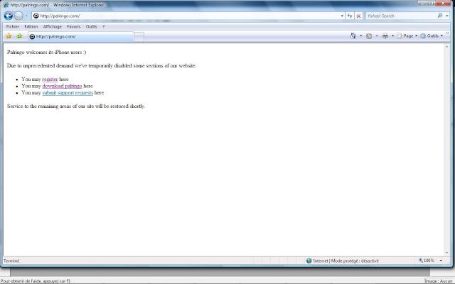 Faire du MSN avec une connexion wap presque comme le vrai MSN : PALRINGO Pal0111